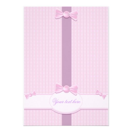 baby shower invitation with pink background 5 x 7 invitation card