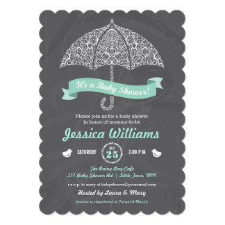Baby Shower Invitation with Umbrella