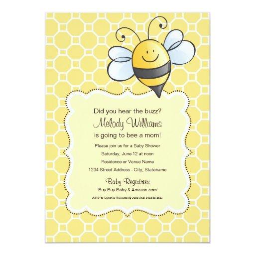 Baby Shower Invitation | Yellow Bumblebee