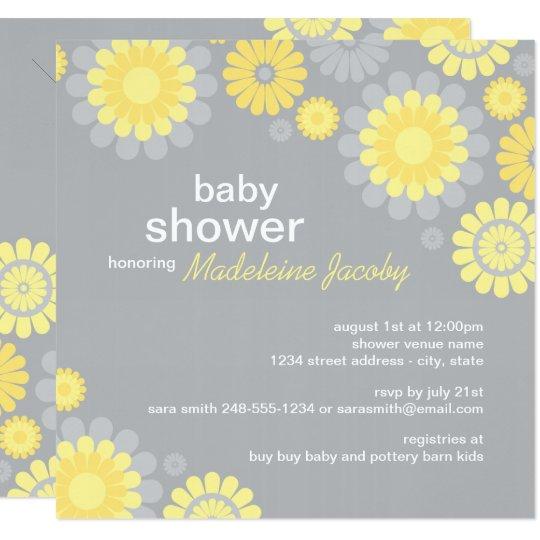 Baby shower invitation yellow gray daisy delight zazzle baby shower invitation yellow gray daisy delight filmwisefo