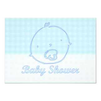 Baby Shower Invitationiwth baby face pacifier Card