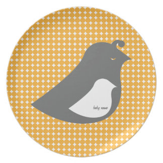 Baby Shower Invitations - A LIttle Bird told me Melamine Plate