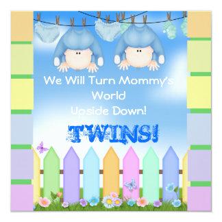 BABY SHOWER Invitations BOY TWINS!