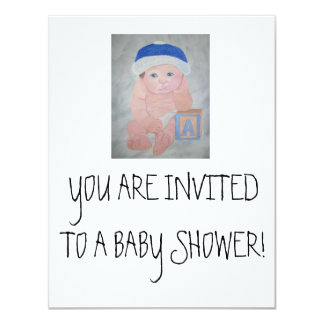 Baby Shower Invitations- By Baby Christians Gifts 4.25x5.5 Paper Invitation Card