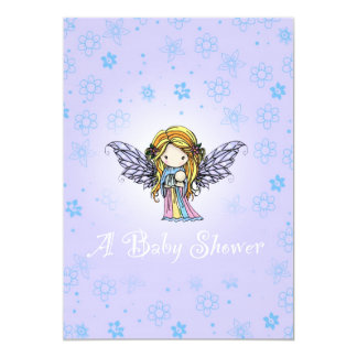 Baby Shower Invitations Cute Fairy and Baby