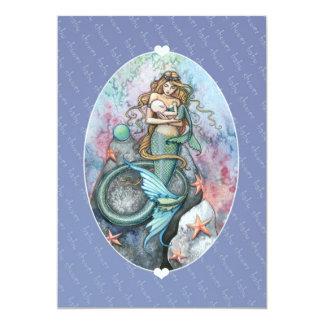 Baby Shower Invitations Mermaid and Baby