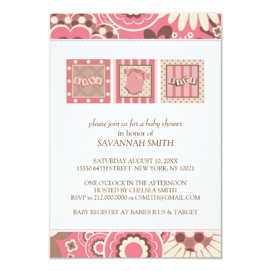 Baby Shower Invitations (Pink)