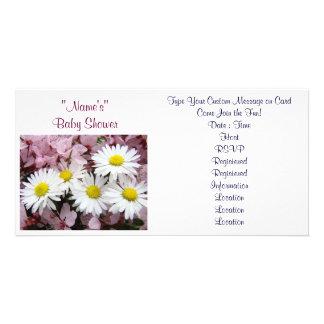 Baby Shower Invitations Pink Tree Blossoms Daisy