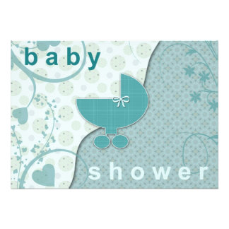 Baby Shower Invitations Soft Teal Boy or Girl