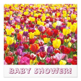 Baby Shower Invitations Spring Tulip Flowers