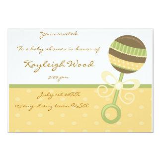 """Baby shower invite 5"""" x 7"""" invitation card"""