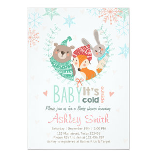 Baby Shower invite Baby cold Outdise woodland