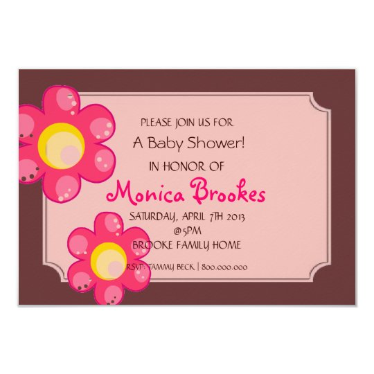 Baby Shower Invite | Baby Flowers |br