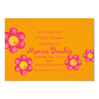 Baby Shower Invite | Baby Flowers II |or