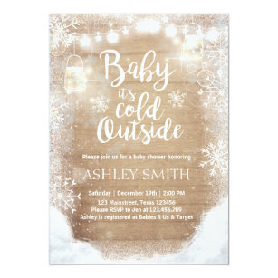 Baby Shower Invite It S Cold Outside Winter