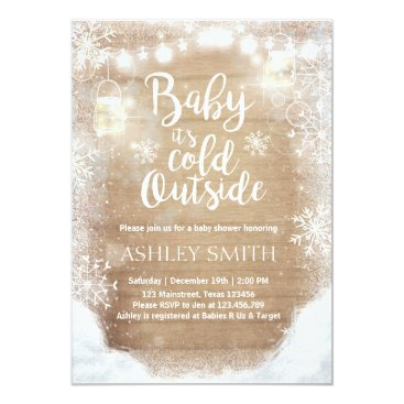 Toddler & Baby themed Baby Shower invite Baby it's cold outside Winter