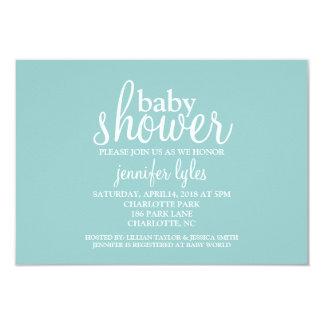 Baby Shower Invite  - Baby Shower - blue