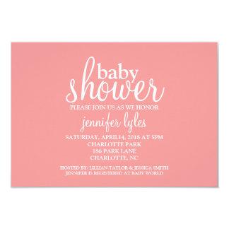 Baby Shower Invite - Baby Shower - pink