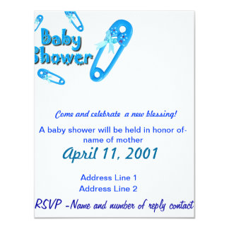 Baby Shower Invite-Boy Card
