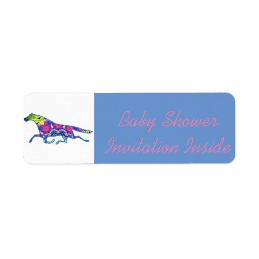 baby shower invite envelope label zazzle