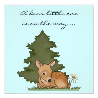 Baby Shower Invite Fawn Deer Cartoon Nature