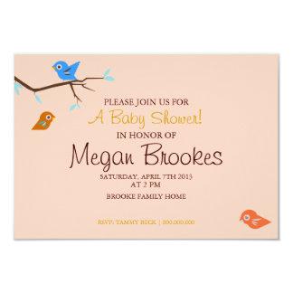 Baby Shower Invite | Little Birdie |pink