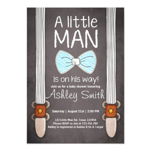 Baby Shower Invitations Bow Tie for adorable invitations layout