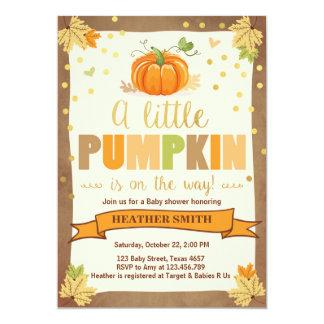 Baby Shower invite Little Pumpkin Fall in Love