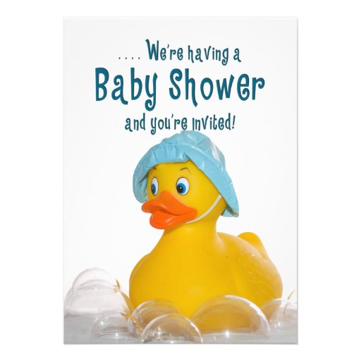 BABY SHOWER INVITE - RUBBER DUCKY