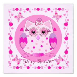 Baby shower Invite with cute Owl