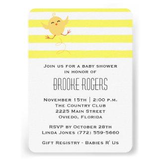 Baby Shower Invite Yellow Baby Chick