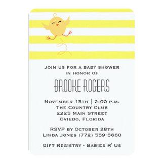 "Baby Shower Invite | Yellow Baby Chick 4.5"" X 6.25"" Invitation Card"