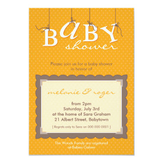 BABY SHOWER INVITES :: baby letters 1P