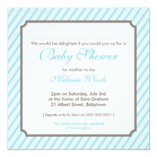 BABY SHOWER INVITES :: candy stripes 2SQ