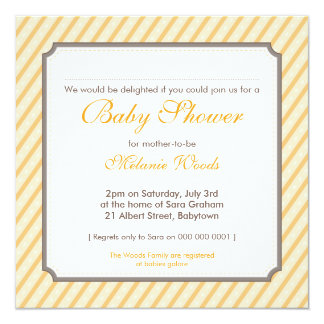 BABY SHOWER INVITES :: candy stripes 3SQ