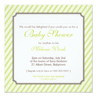 BABY SHOWER INVITES :: candy stripes 4SQ