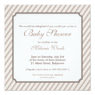 BABY SHOWER INVITES :: candy stripes 5SQ