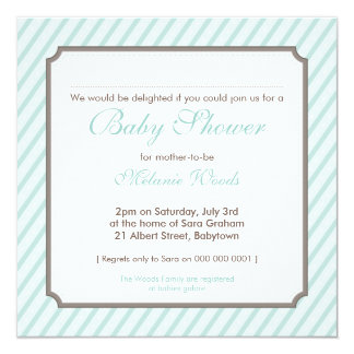 BABY SHOWER INVITES :: candy stripes 8SQ