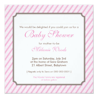BABY SHOWER INVITES :: candy stripes SQ