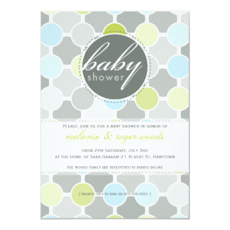 BABY SHOWER INVITES :: fizzy spots 1P