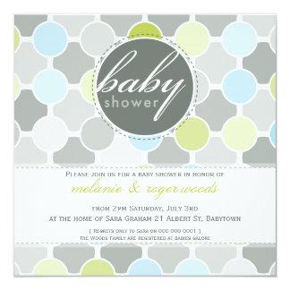 BABY SHOWER INVITES :: fizzy spots 1SQ