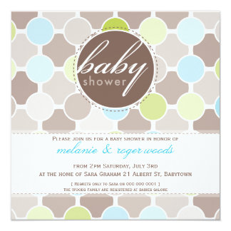 BABY SHOWER INVITES :: fizzy spots 5SQ