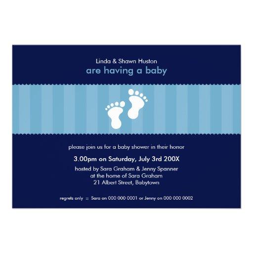 BABY SHOWER INVITES :: happy feet 3L