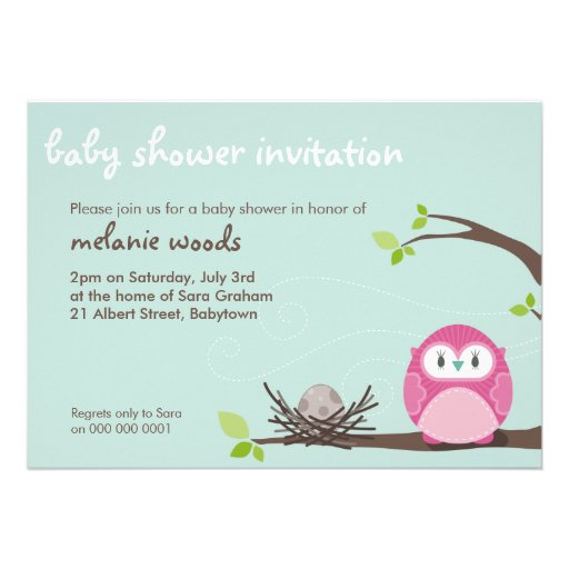 BABY SHOWER INVITES :: owl + nest 2L