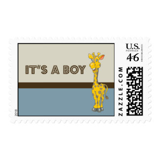 Baby Shower It s a Boy Cute Animal Postage