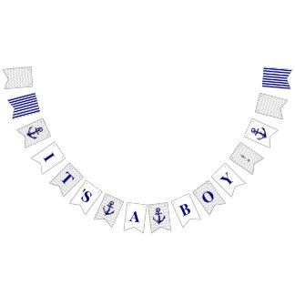 Baby Shower It's A Boy Party Banner Bunting Flags