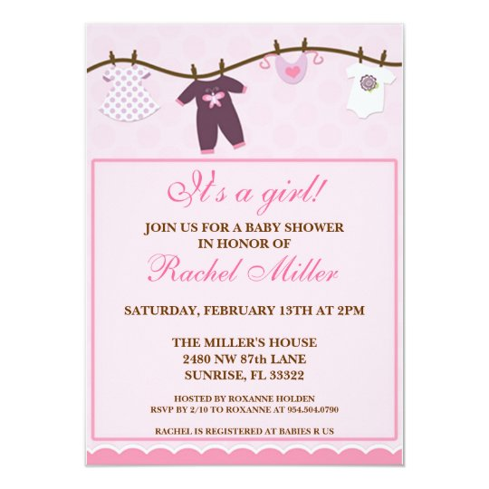 Baby Shower - It's a Girl Card