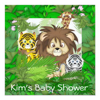 BABY SHOWER Jungle ZOO Invitations NEUTRAL