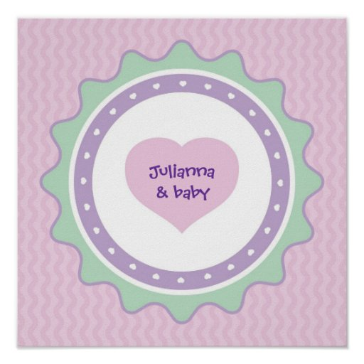 baby shower keepsake poster for guest autographs zazzle