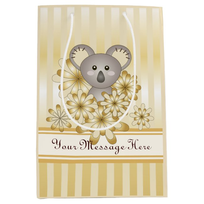 Baby Shower | Kids Birthday Cute Koala Faux Gold